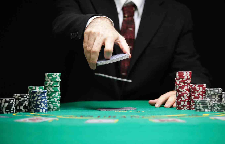 dealer throwing cards